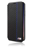 BMW Book Case Bi-Material Carbon/PU Navy Stripe