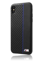 BMW Hard Cover Bi-Material Carbon/PU Navy Stripe