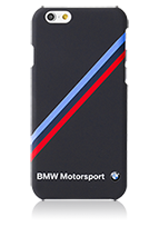 BMW Hard Cover Diagonal Tricolor Stripe Rubber
