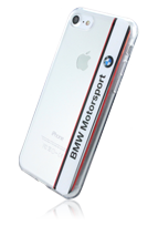 BMW Soft Cover Transparent Vertical Logo