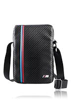 BMW Travel Bag 9-10 Zoll Carbon Effect Tricolor Stripe