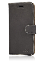 DC Cases Luca Book Case Leather Grezy Black