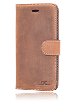 DC Cases Luca Book Case Leather Grezy Brown