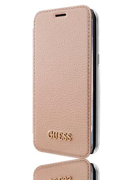 GUESS Book Case Iridescent Rosegold, für G955 Galaxy S8