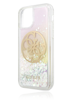 GUESS Hard Cover Glitter Circle