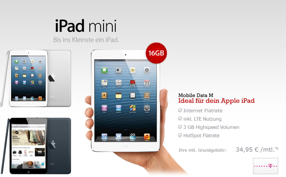 Groupon Apple iPad mini 16GB Cellular + Telekom Mobile Data M