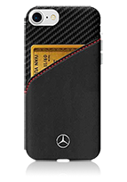 Mercedes-Benz Hard Cover Genuine leather & Carbon with card slot
