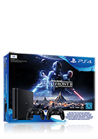 Sony PlayStation 4 slim inkl. Star Wars Battlefront II